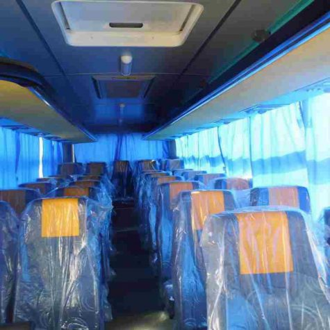 33 passenger buses- back moving chairs